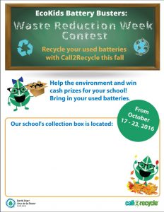 Ecokids Battery Busters: Waste Reduction Week Contest