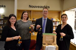 St. Boniface Library Danielle Robidoux, Mariève Bonin, Ed Cuddy, Delphine Lagourgue