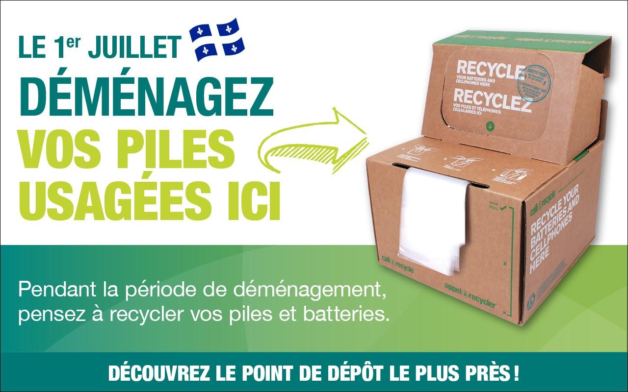 Les collectes de piles et de batteries augmentent avec constance au Québec
